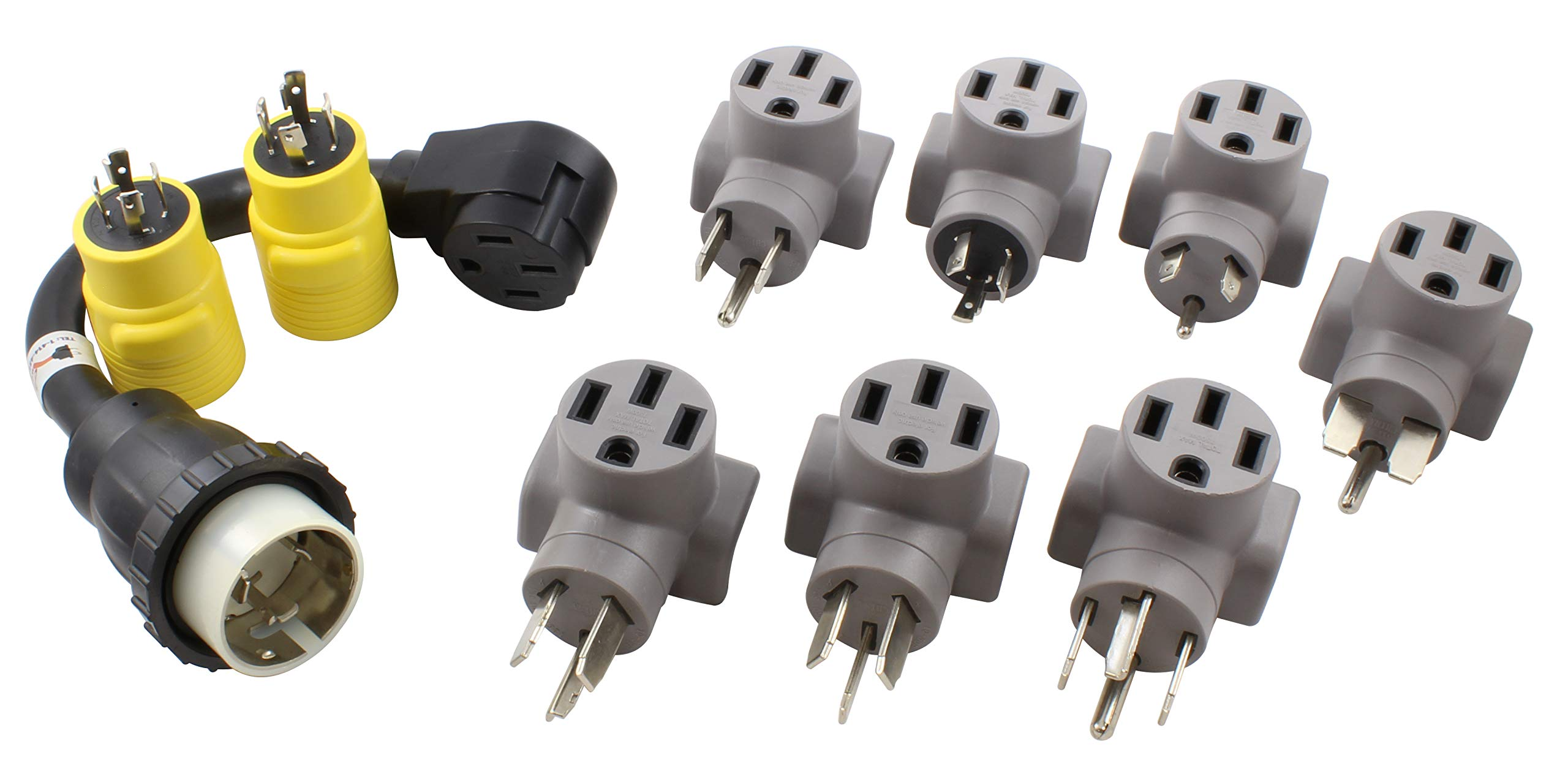 AC WORKS EV Charging Adapter for Tesla Use (EV Complete Charging Kit)