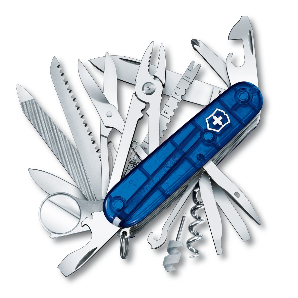 Victorinox Swiss Army Multi-Tool, SwissChamp Pocket Knife, Sapphire