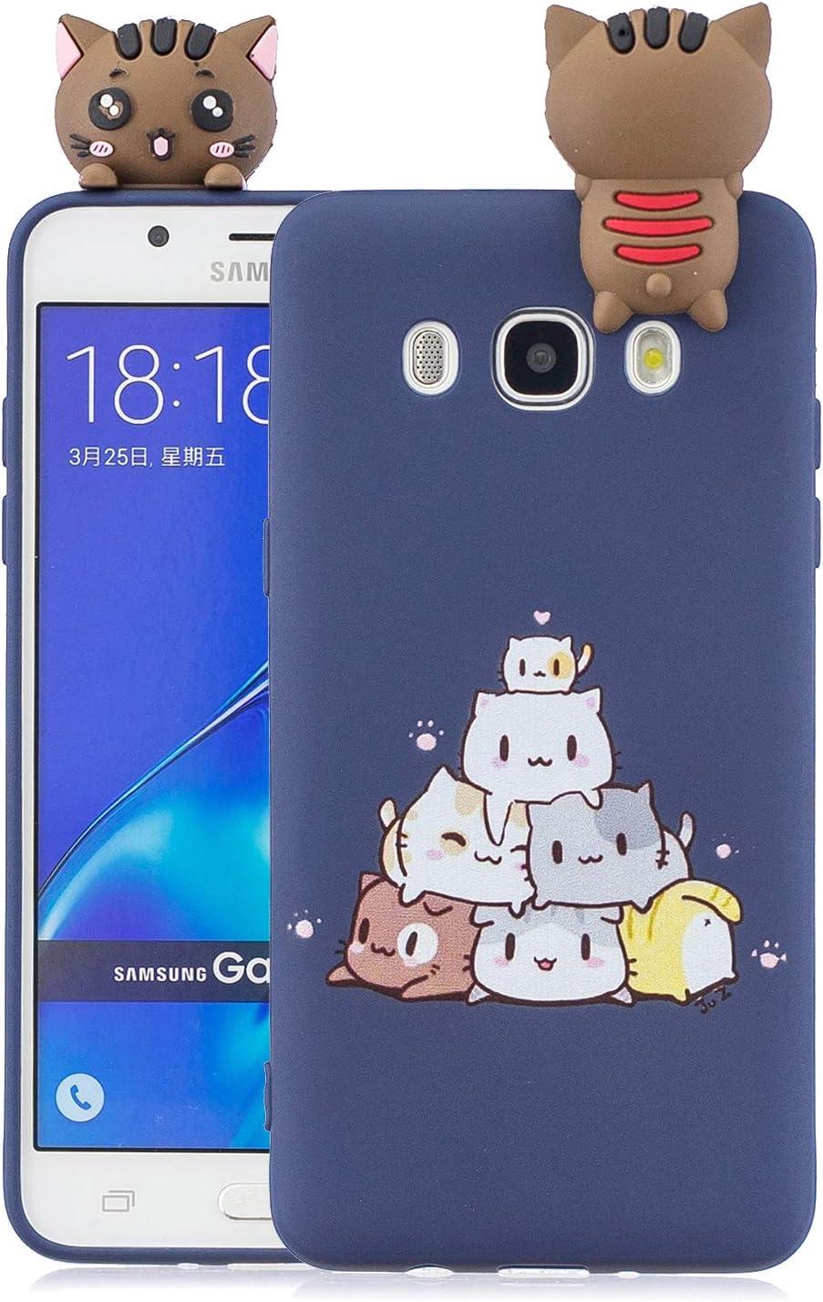 Funluna Funda Samsung Galaxy J5 2016, 3D Gato Patrón Ultra Delgado ...