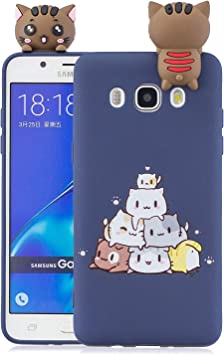 Funluna Funda Samsung Galaxy J5 2016, 3D Gato Patrón Ultra Delgado TPU Cover Suave Silicona Carcasa Gel Anti-Rasguño Protectora Espalda Bumper Case para Samsung Galaxy J5 2016, Azul: Amazon.es: Electrónica