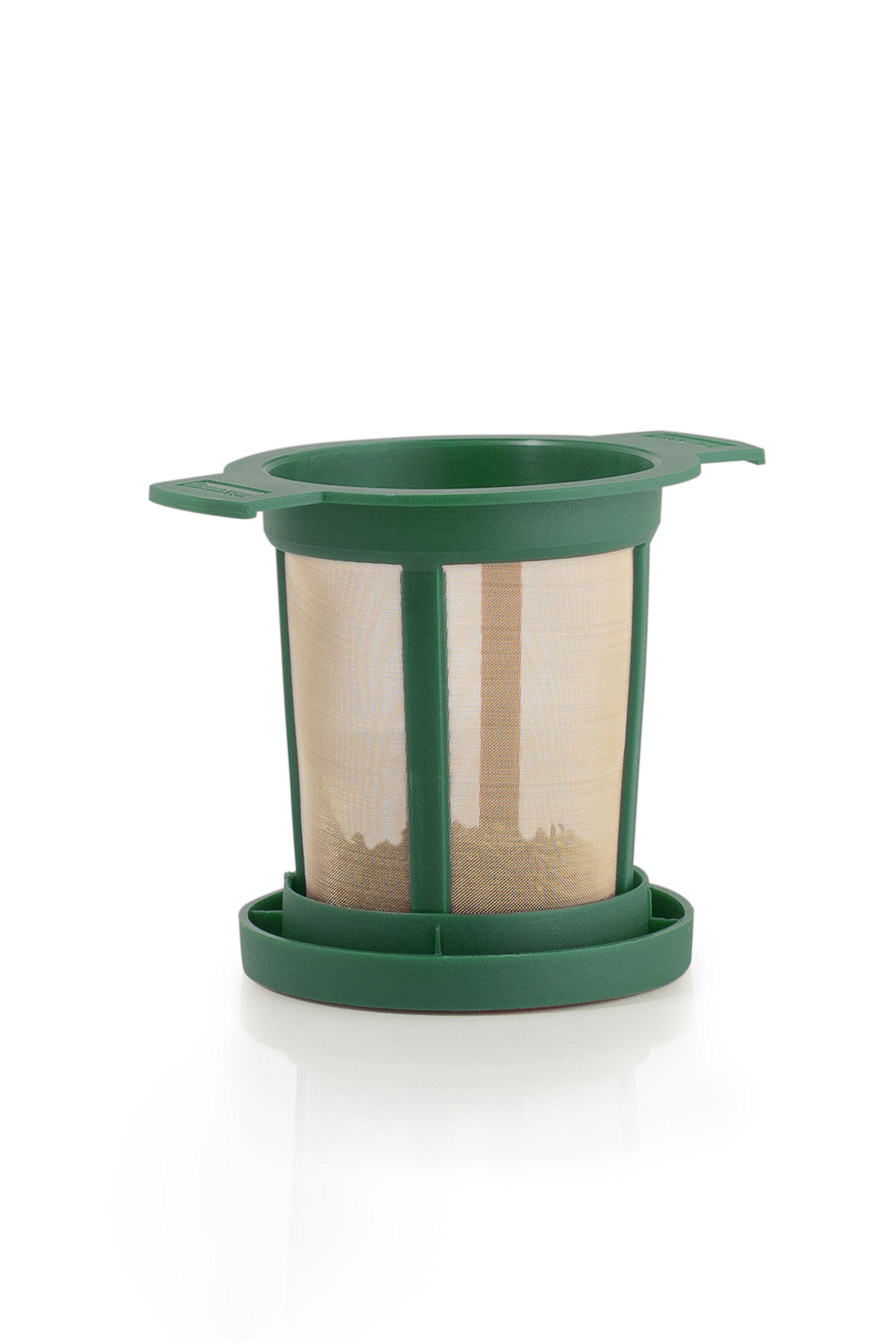 Brewing Basket M - Permanent Tea Filter, green (18 retail units per Case) by Finum