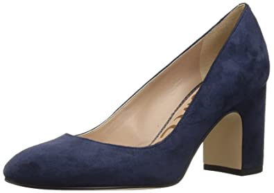 f651c360e Sam Edelman Women's Junie Pump, Baltic Navy Suede, 5 M US