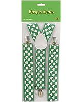 Beistle 30804 Shamrock Suspenders