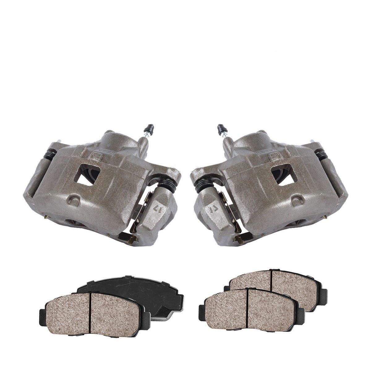 CCK01011 Quiet Low Dust Ceramic Brake Pads FRONT Premium Loaded OE Caliper Assembly Set 2