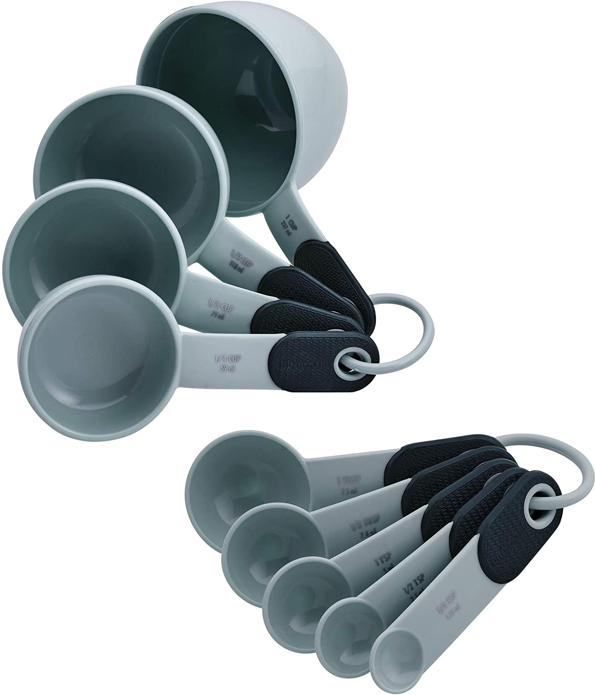 KitchenAid KE475OHGSA Measuring Cups and Spoons Set, one size, Gray