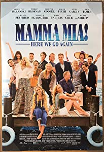 MAMMA MIA! HERE WE GO AGAIN MOVIE POSTER 2 Sided ORIGINAL FINAL RATED 27x40 LILY JAMES