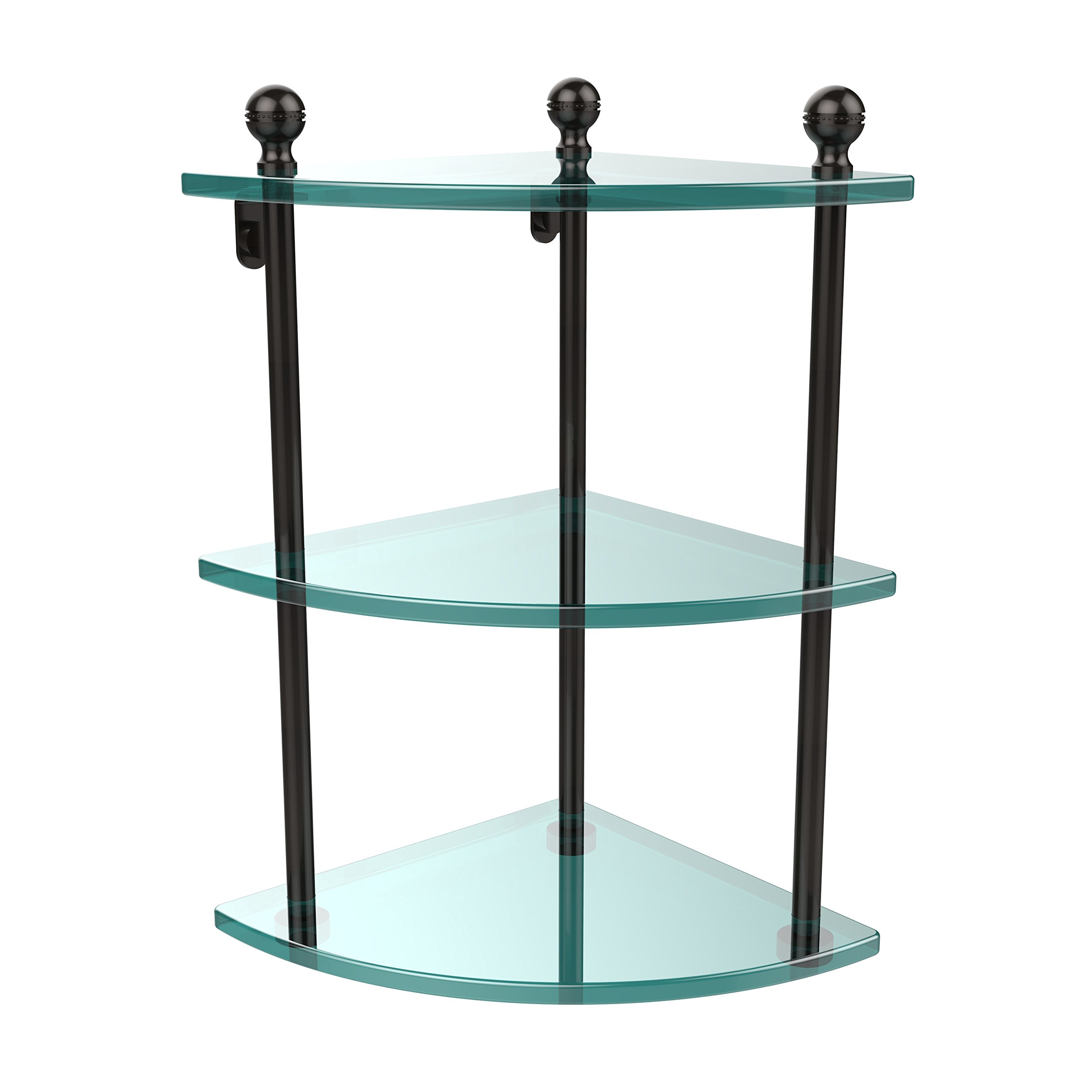 Allied Brass MA-6-ORB Triple Corner Glass Shelf Oil Rubbed Bronze by Allied Brass