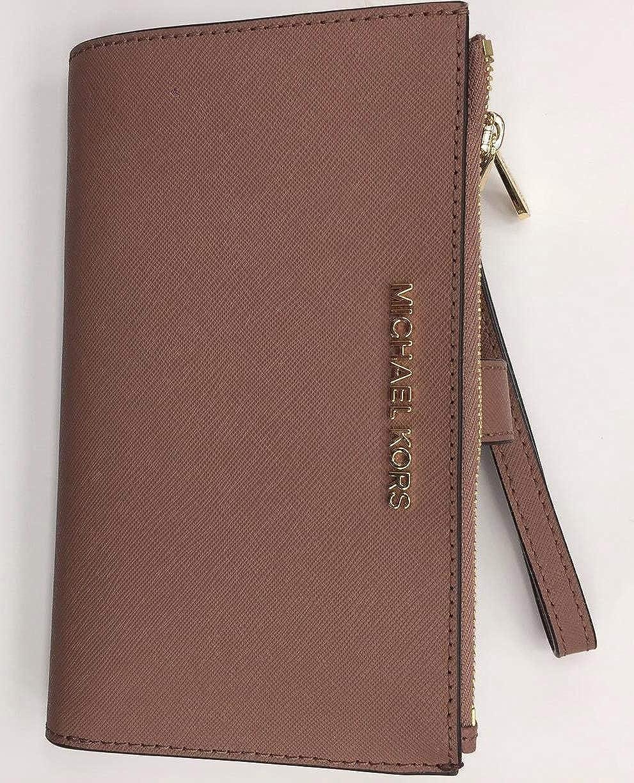 2131027a8532 Michael Kors Jet Set Travel double Zip Wristlet -saffiano  Handbags   Amazon.com