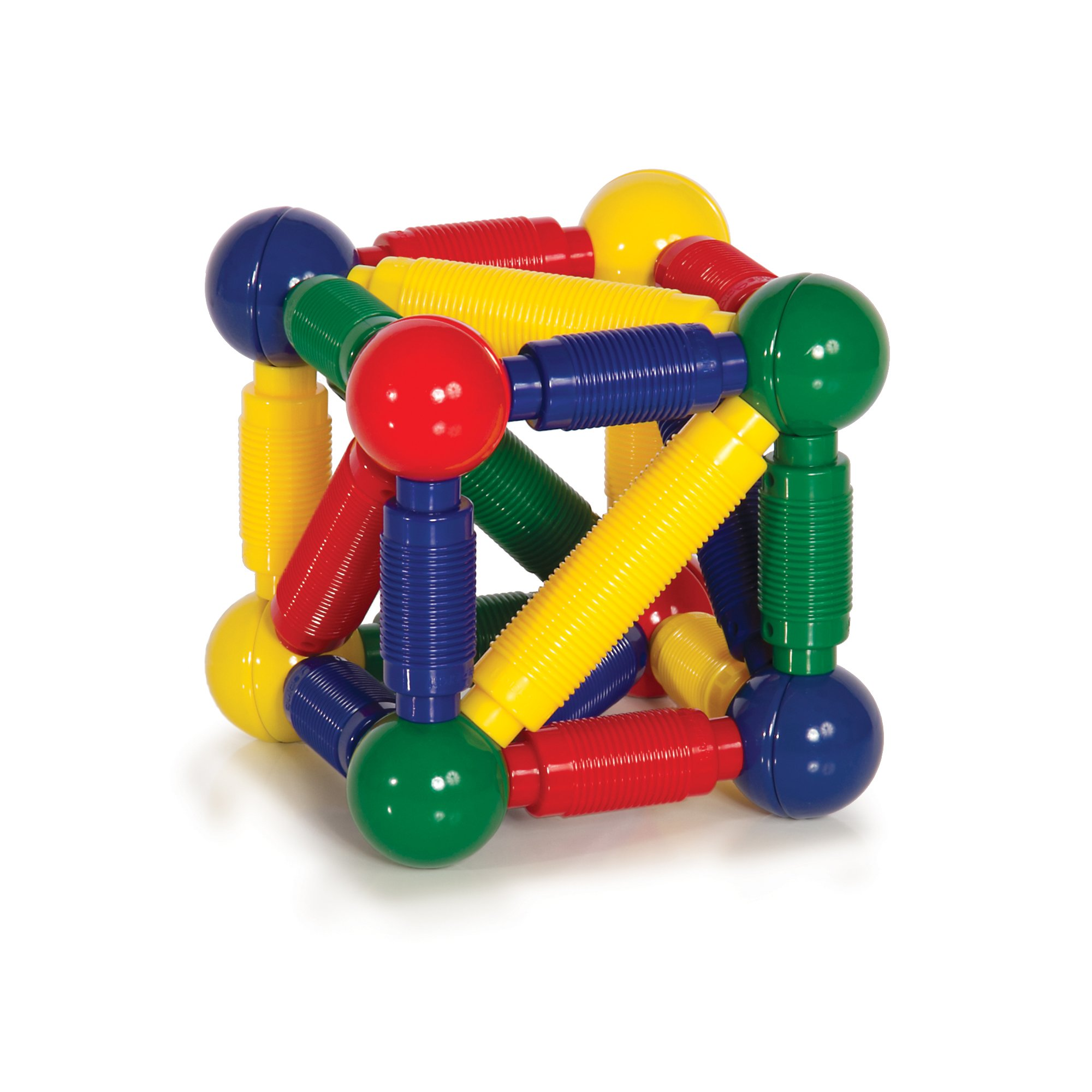 Guidecraft Better Builders 30 - Piece Magnetic Ball and Rod Construction Set, STEM Educational Building Toy
