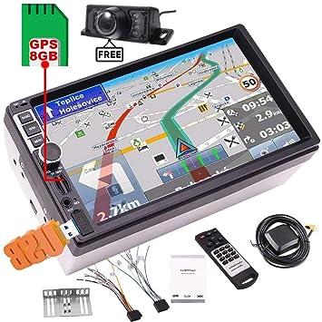 Cámara libre + 8 GB GPS Tarjeta del mapa del coche MP5 con ...