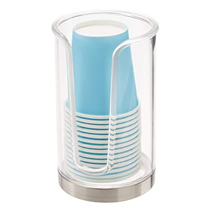 MetroDecor mDesign Soporte para Vasos de Usar y Tirar – Dispensadores de Vasos para Agua y