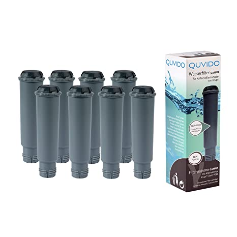 QUVIDO 8 x Gamma Filtro de agua para máquinas de café KRUPS
