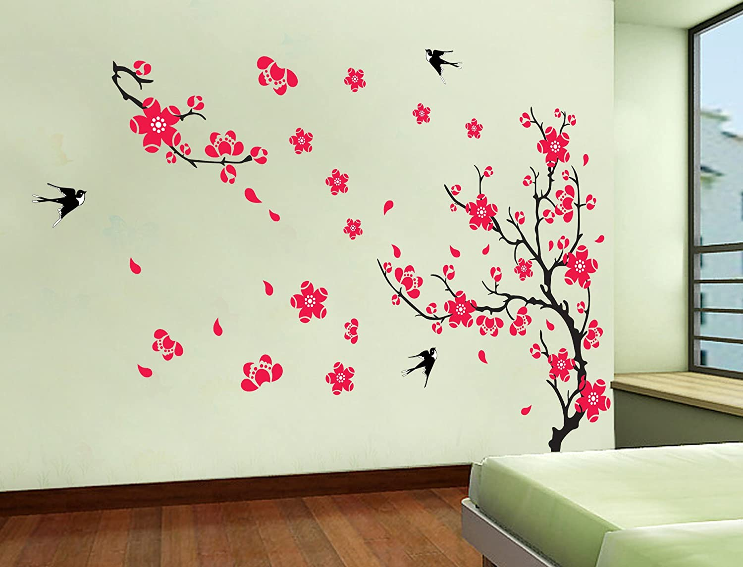 Buy UberLyfe Flowers Wall Sticker (Sheet Size 60 X 90cm) - (WS ...