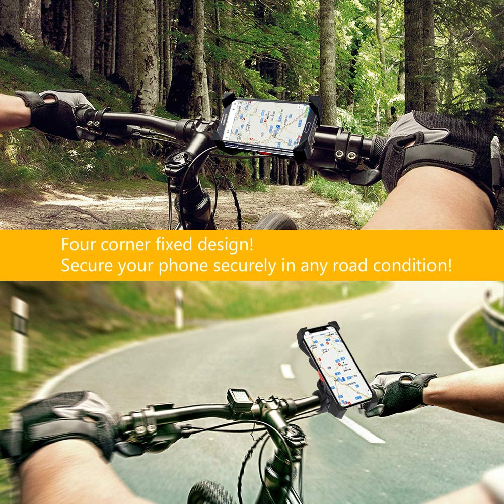 visnfa New Bike Phone Mount Anti Shake and Stable 360/° Rotation Bike Accessories for Any Smartphone GPS Other Devices Between 3.5 and 6.5 inches