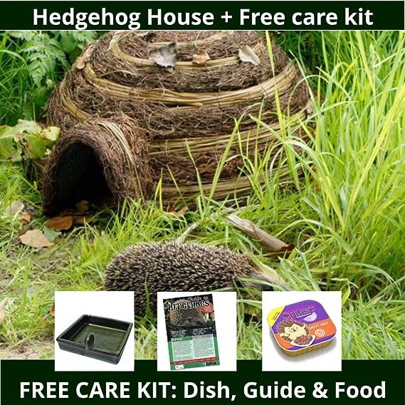 Iglú para erizo y kit de cuidados gratuito: Amazon.es: Jardín