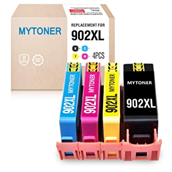 4 Pack 902 XL Ink Cartridges for HP Officejet Pro 6960 6968 6970 6975 6978