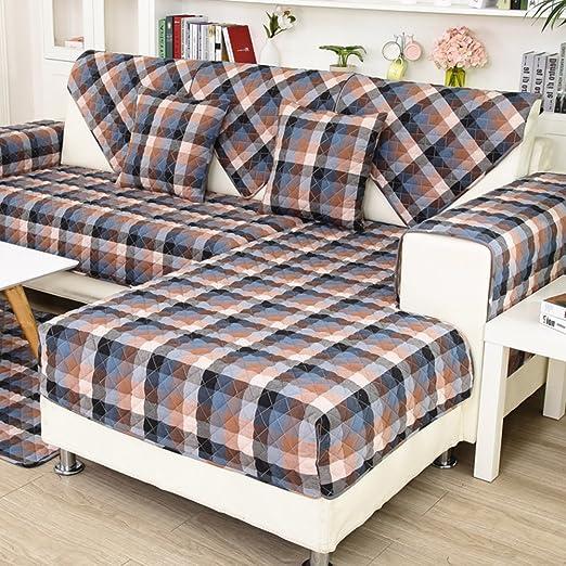 Sofá moderno simple toalla juego Estera del sofá del algodón Tela ...