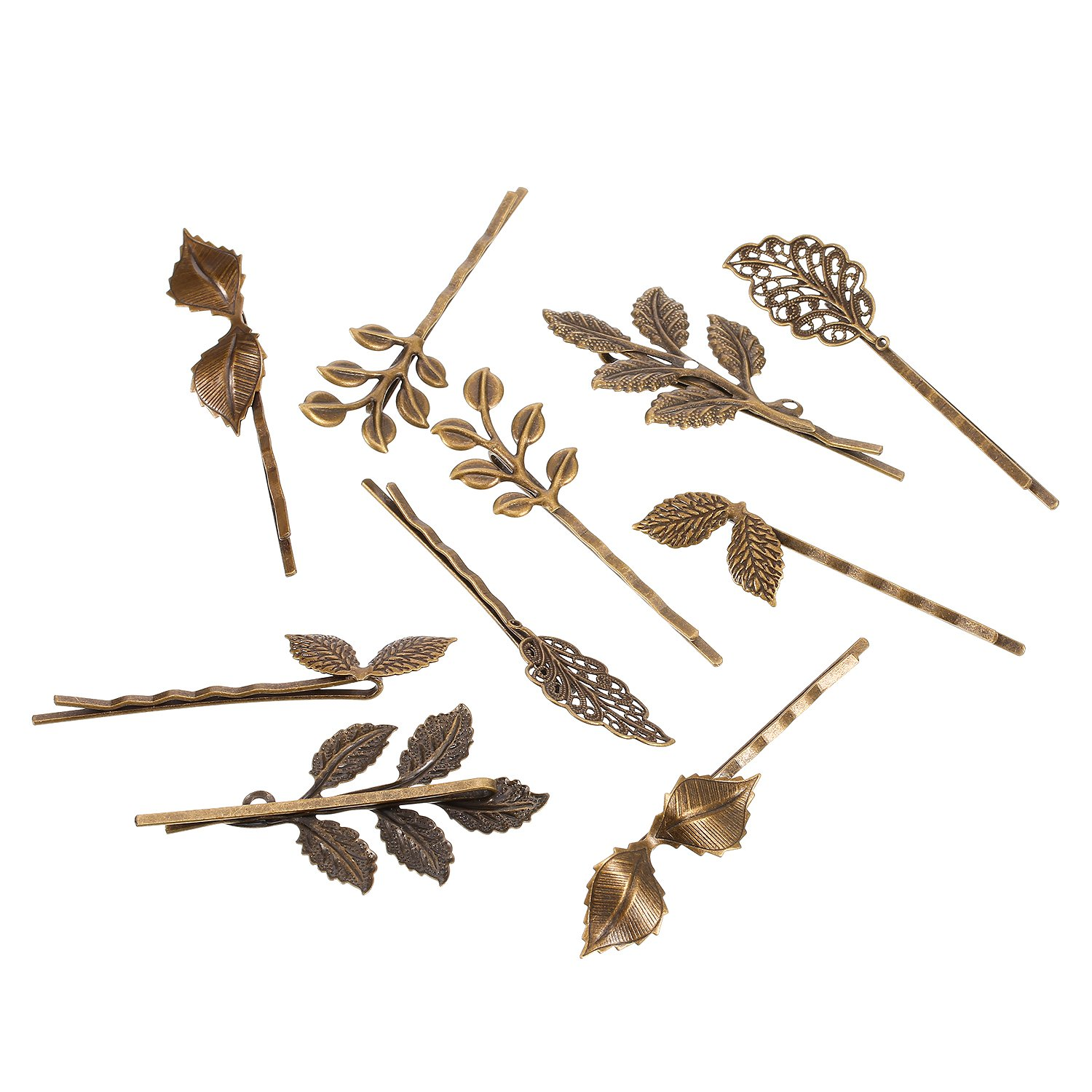 BBTO 22 Pieces Vintage Hair Clips Barrettes Bronze Leaf Bobby Pin Flower Butterfly Heart Hair Clip for Girls and Women, Mix Styles by BBTO (Image #3)