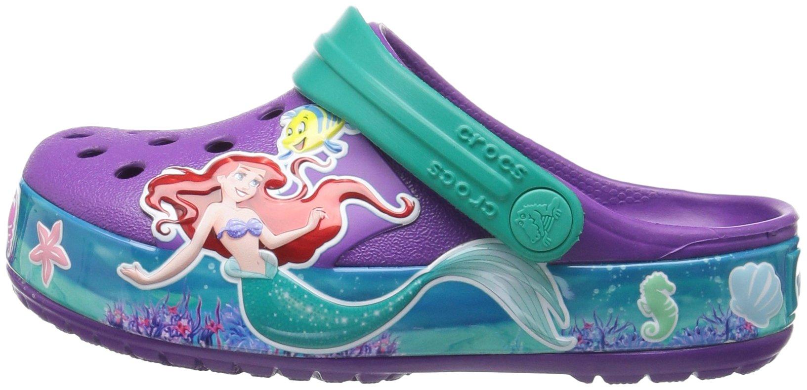 Crocs Girls' CB Princess Ariel K Clog, Amethyst, 13 M US Little Kid by Crocs (Image #5)