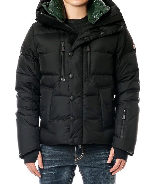 Wiberlux Moncler Rodenberg Men's Layered Goose Down Hooded Jacket Size 0 Black