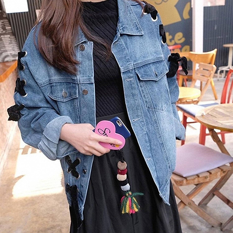 Denim Jacket For Women NEW Vogue Loose Bomber Jacket Long Sleeve Streetwear Jaqueta Feminina S~L at Amazon Womens Coats Shop