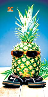 "product image for Sport N Care Beach Towel (Pineapple Head) 32"" x 60"""
