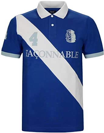 90f785b007a Faconnable - T-shirt - - Col polo - Manches courtes Homme - Bleu ...