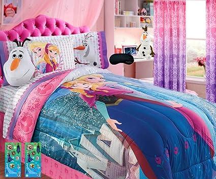 Nuevo. Disney Frozen Reina cama conjunto superior. Colcha, 100% franela de algodón