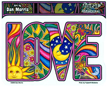 amazon dan morris classic love sticker decal 5 w x 3 1 4 h