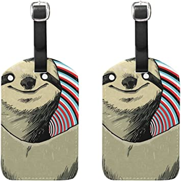 Sloth Luggage Tags Bag Travel Labels For Baggage Suitcase