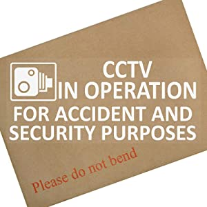 1 x CCTV in Operation for Accident and Security Purposes Window Sticker-7.9 Inch x 3.4 Inch-CCTV Sign-Car,Van,Lorry,Truck,Taxi,Bus,Mini Cab,Minicab-Go Pro,Dashcam Protection Secure Insurance
