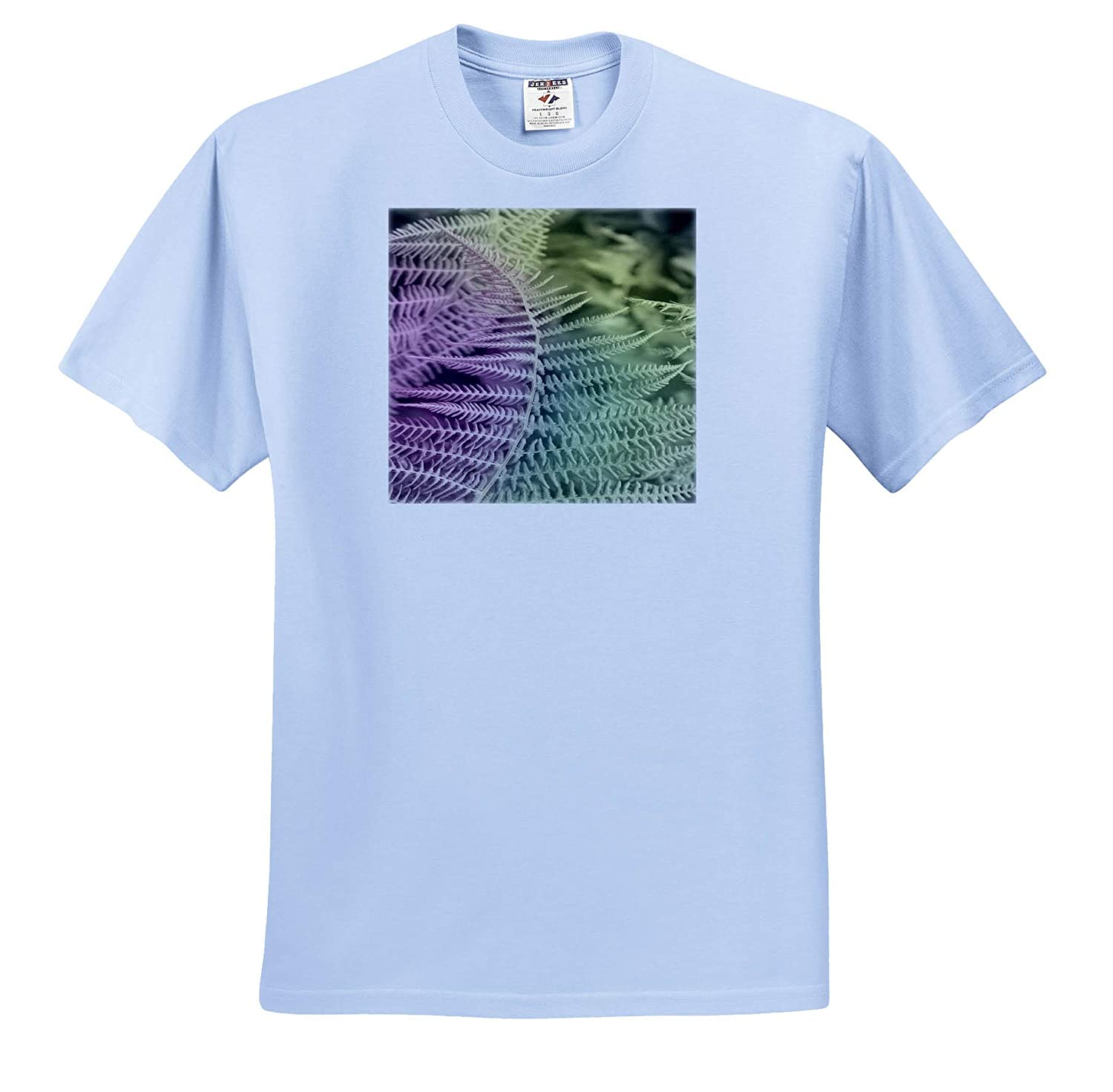 Photograph Pastel Fern Manipulated Photograph of Fern T-Shirts 3dRose Made in The Highlands