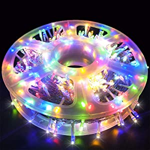 MYGOTO Christmas Lights String Lights 500 LED 165FT 8 Modes Plug in String Lights 30V Waterproof Fairy Lights Home Garden Party Wedding Christmas Tree Bedroom Window Curtain Decoration(Multicolor)