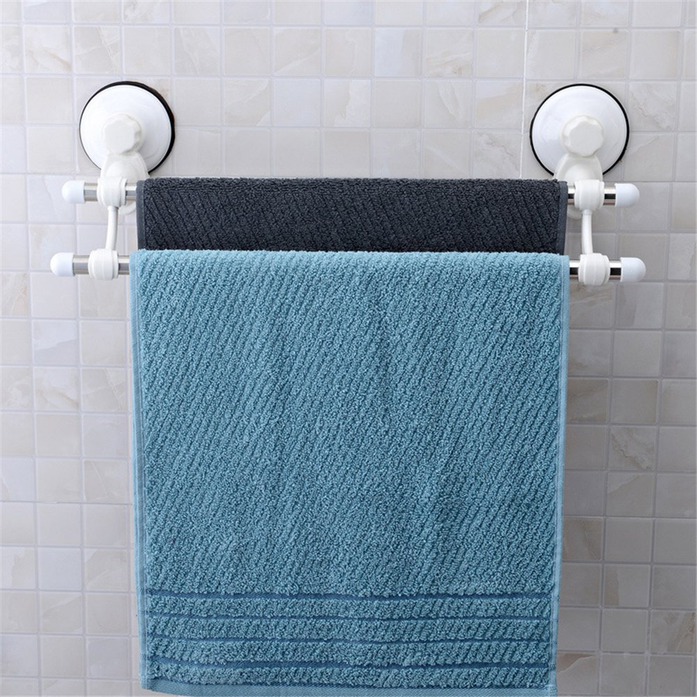Amazon.com: Inchant Suction Cup Double Towel Bar Stainless Steel ...