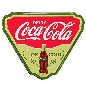 Open Road Brands Coca-Cola Ice Cold Vintage Green Metal Tin Magnet - Coca-Cola Officially Licensed Product - Perfect Size for Home Decor