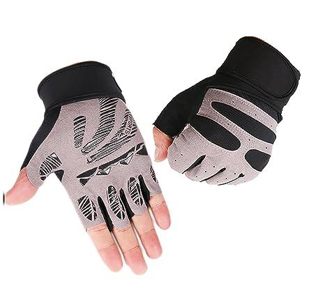 Campstoor levantamiento de peso gimnasio guantes hombres guantes deportivos Fitness entrenamiento ejercicio entrenamiento proteger muñeca guantes