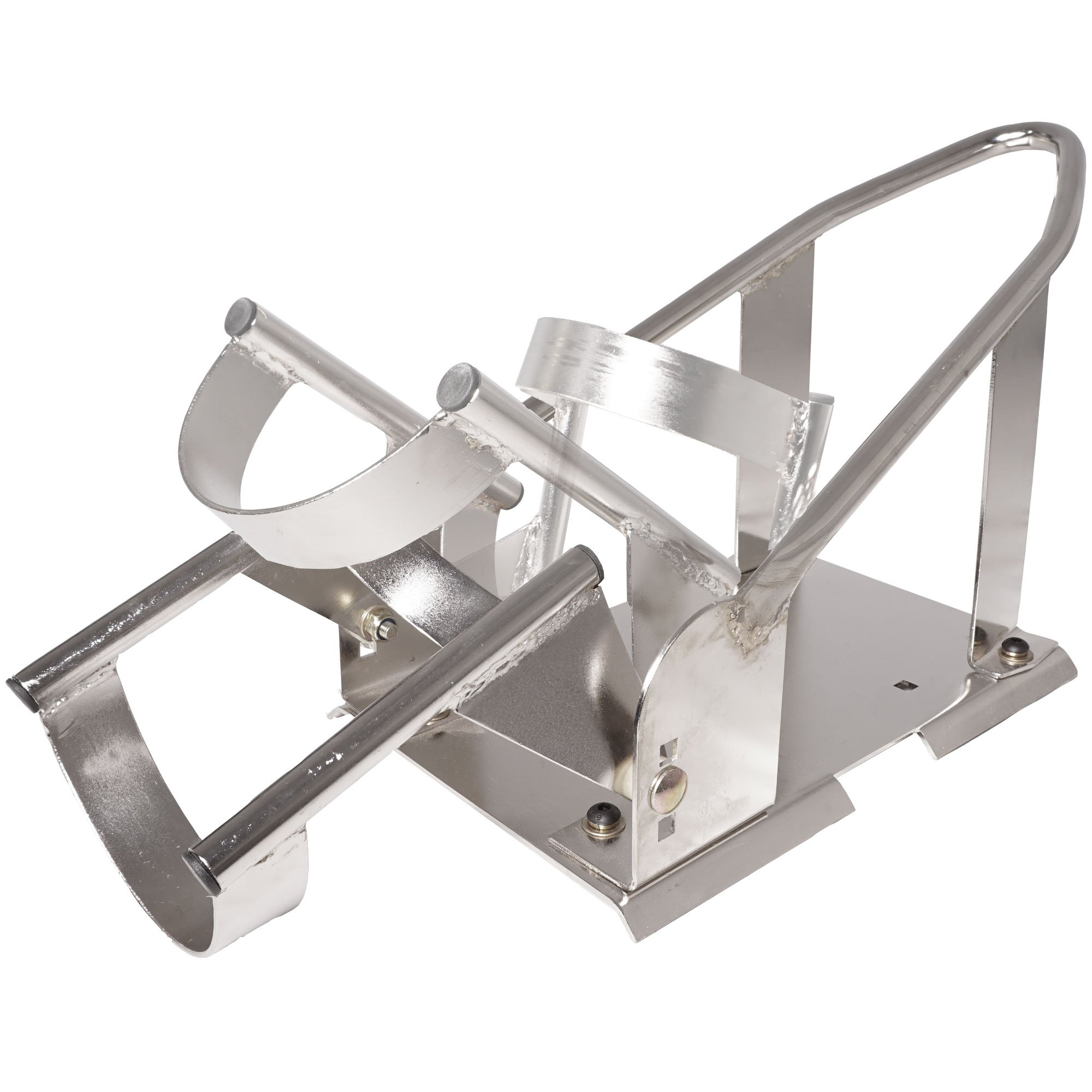 3 Position Adjustable Chrome Motorcycle Wheel Chock Stand Truck Trailer Mount by Titan Ramps (Image #4)