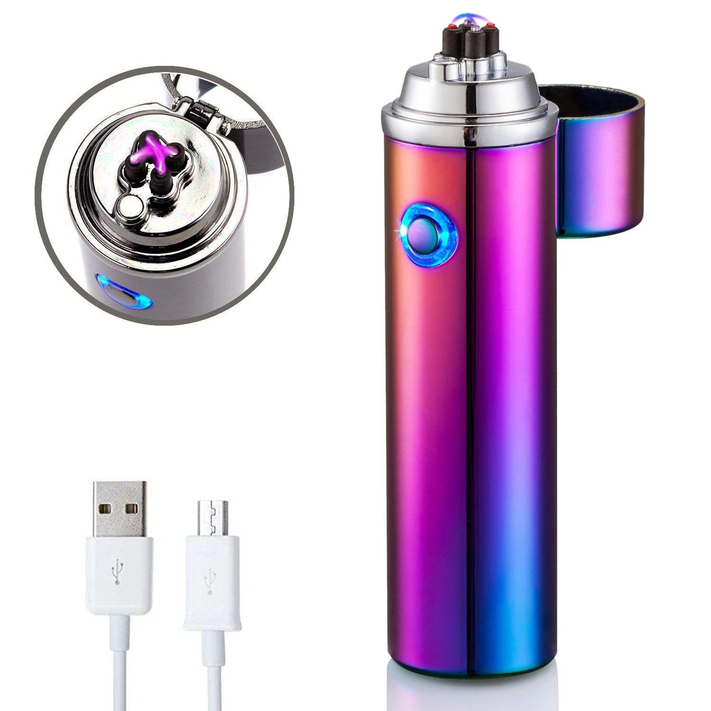 Electric lighter, FORHU Electronic Arc Lighters Windproof USB Rechargeable Lighters HONGLU QINGGONG Di-Lighter