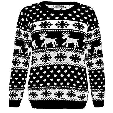 93411c03193 janisramone Girls Boys New Kids Christmas Reindeer Snowflake Novelty Knitted  Children Xmas Jumper Sweater Top  Amazon.co.uk  Clothing