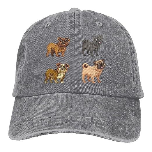 f6683af55 Pug Life Love Denim Baseball Caps Cool Summer Hat Adjustable Cotton ...