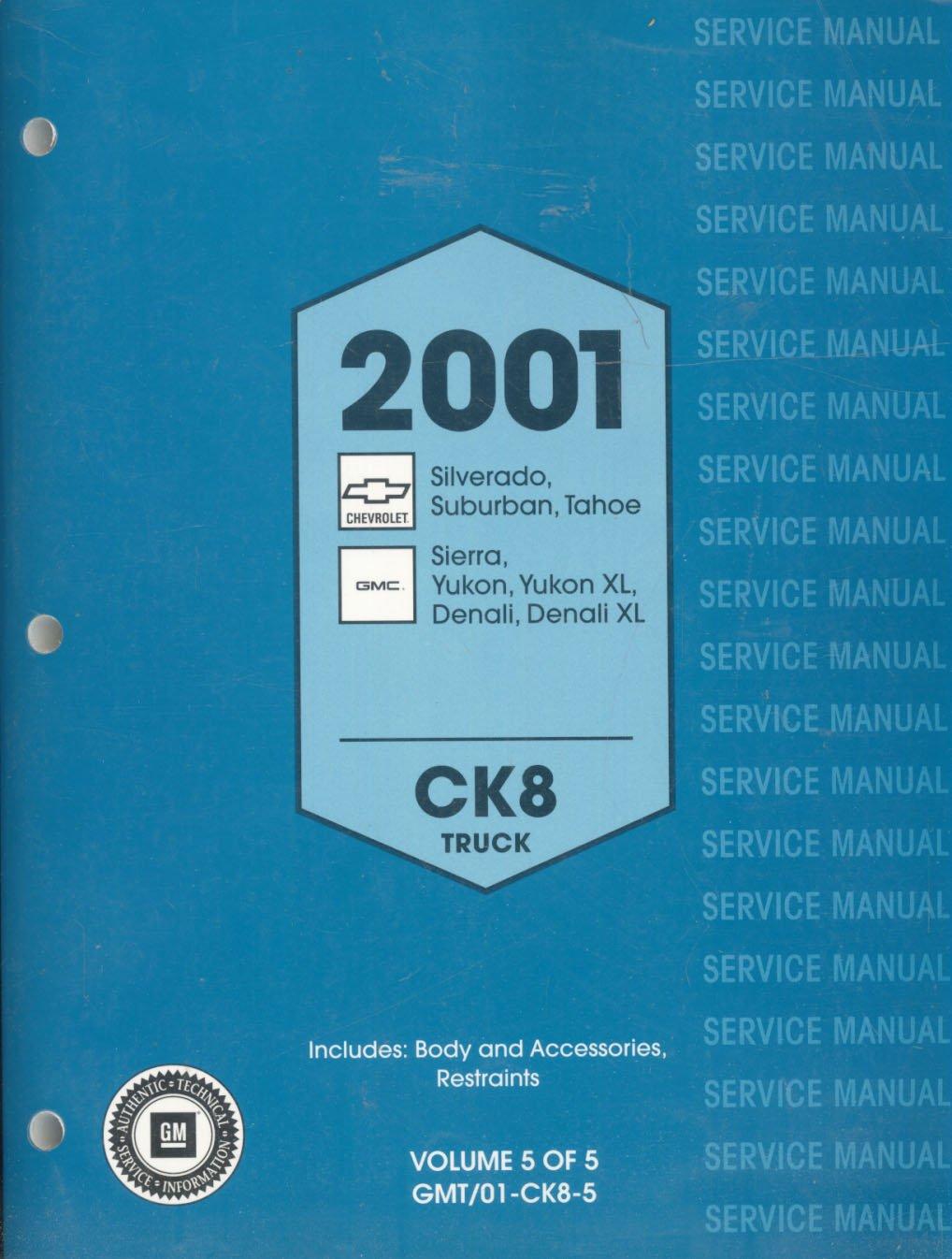 gm 2001 service manual ck8 truck chevrolet silverado tahoe rh amazon com GMC Sierra Manual Sierra Manual Con Operador