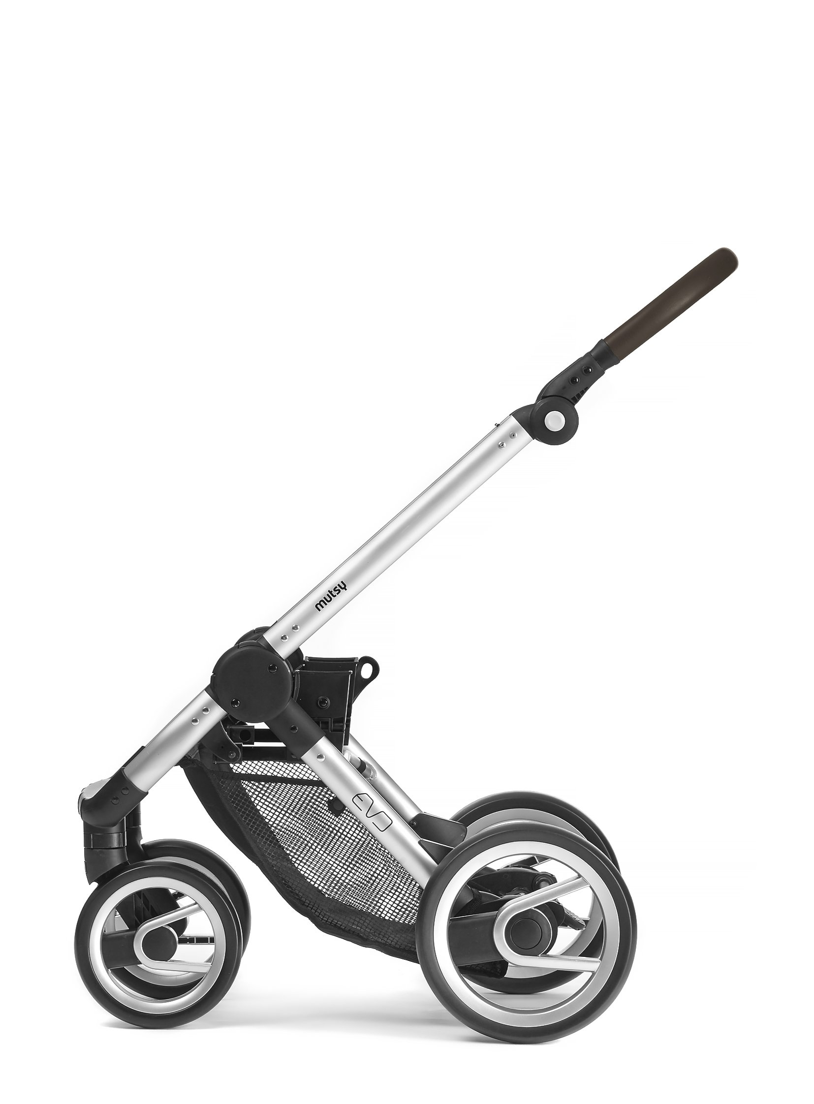 Mutsy Evo Industrial Edition Stroller, Grey with Silver Chassis by Mutsy (Image #3)