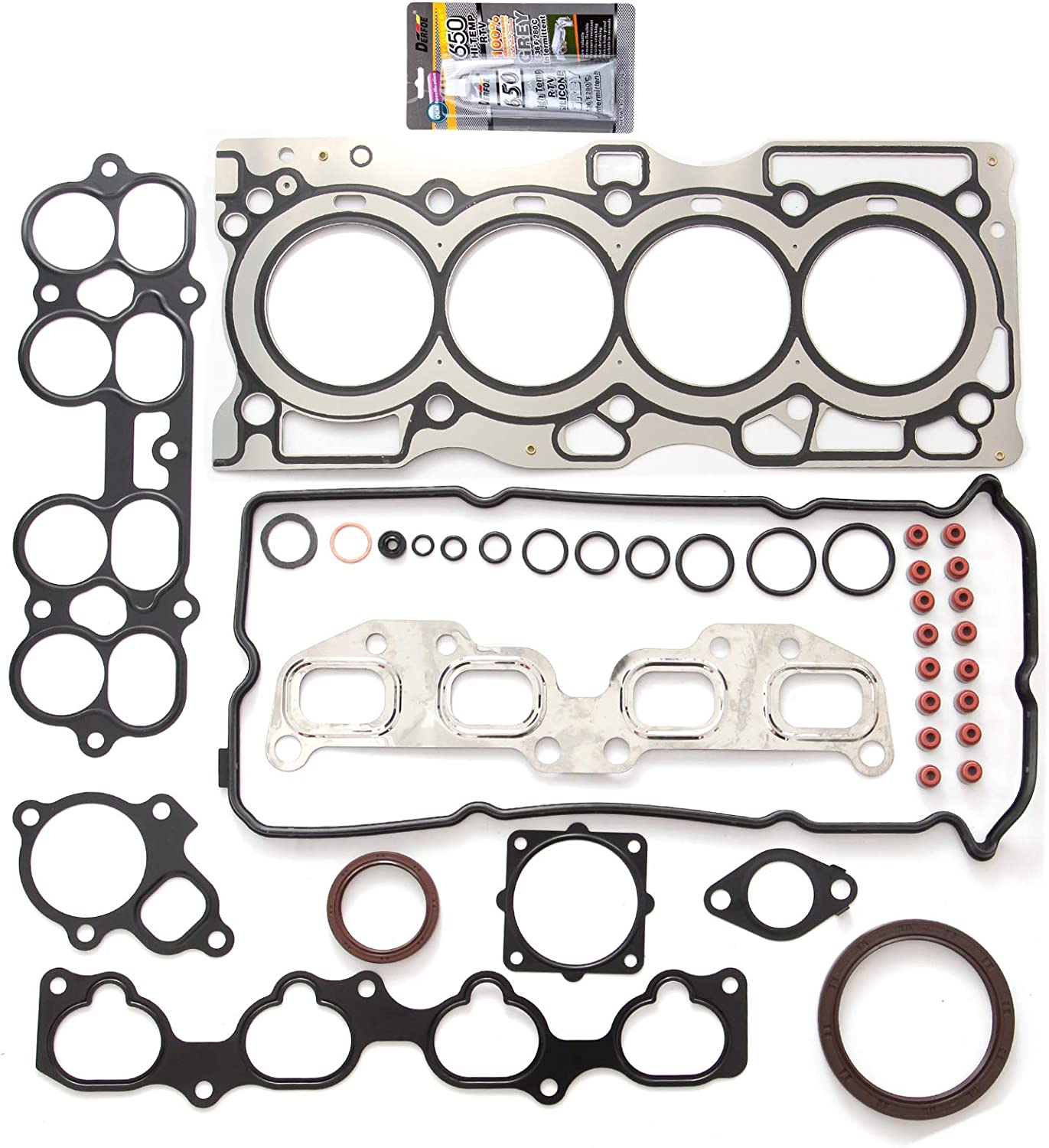 Cylinder Head Gasket compatible with Nissan Altima 02-06 Multi-Layered Steel QR25DE GAS FI DOHC