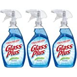 Glass Plus Glass Cleaner, 32 fl oz Bottle, Multi-Surface Glass Cleaner (Pack of 3)