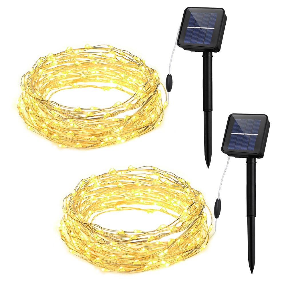 Cymas Outdoor String Lights 100 Led Solar Christmas Fairy Lighting Decorative.. 14