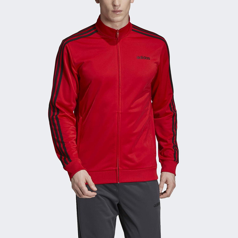 adidas Essentials 3-Stripes Tricot Track Jacket Chaqueta, Hombre ...