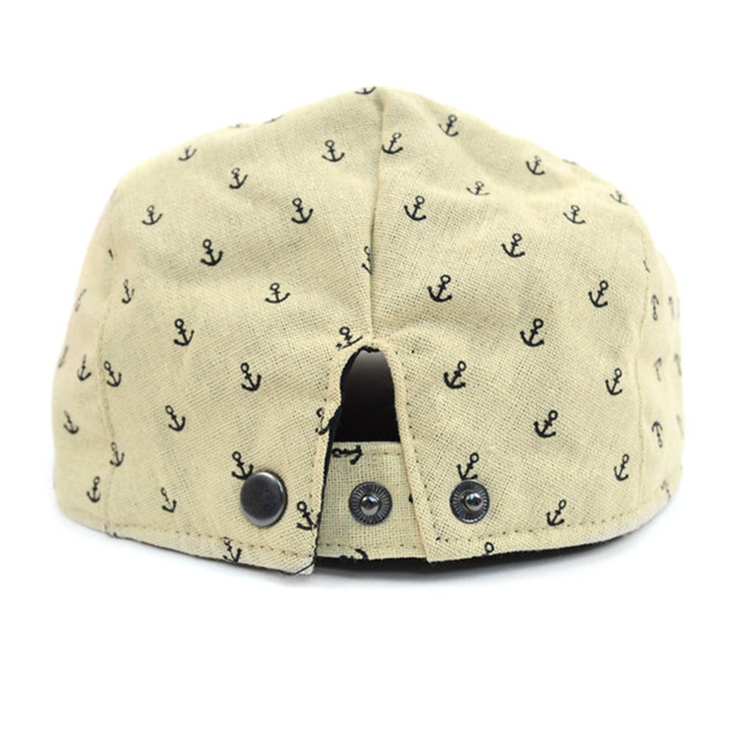 Mens Spring//Summer Anchor Pattern Ivy Hat with Snap Back