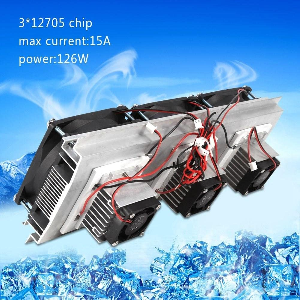 AYNEFY Thermoelectric Peltier Cooler Kit Semiconductor Refrigeration Pieces Kit Air Cooling Fan System Heatsink Device