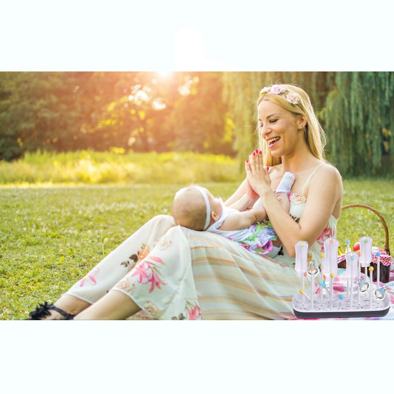 Babyflaschen Abtropfgestell Trockengestell,Abtropfgestell f/ür Babyflaschen und Flaschen,Babyflaschenhalter,Abtropfgestell Flaschen,Trockenst/änder f/ür Flaschen,BPA-frei Schwarz