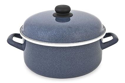 Menax - Bateria de Cocina 8 Piezas - Acero Vitrificado antiadherente - Inducción: Amazon.es: Hogar